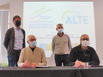 Signature de la première convention SARE du département avec l'ALTE