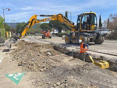 Deuxième phase de travaux du réseau d'assainissement à L'Isle sur la Sorgue