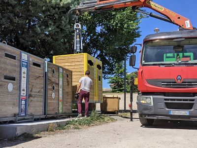 Déploiement de nouvelles colonnes aériennes pour améliorer la qualité des déchets collectés