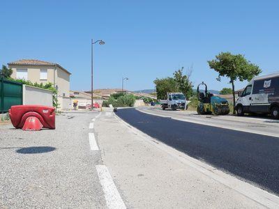 Travaux d'assainissement : reprise des enrobés à la Ricarde et sur l'Avenue des Sorgues