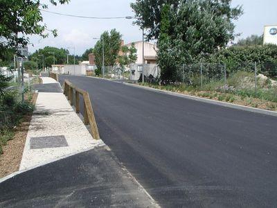 Réhabilitation de la route de la gare à Châteauneuf de Gadagne