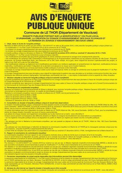 Enquête publique - LE THOR