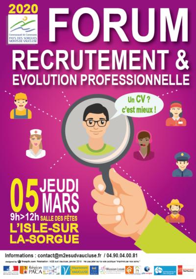 Forum du recrutement et de l'évolution professionnelle 2020